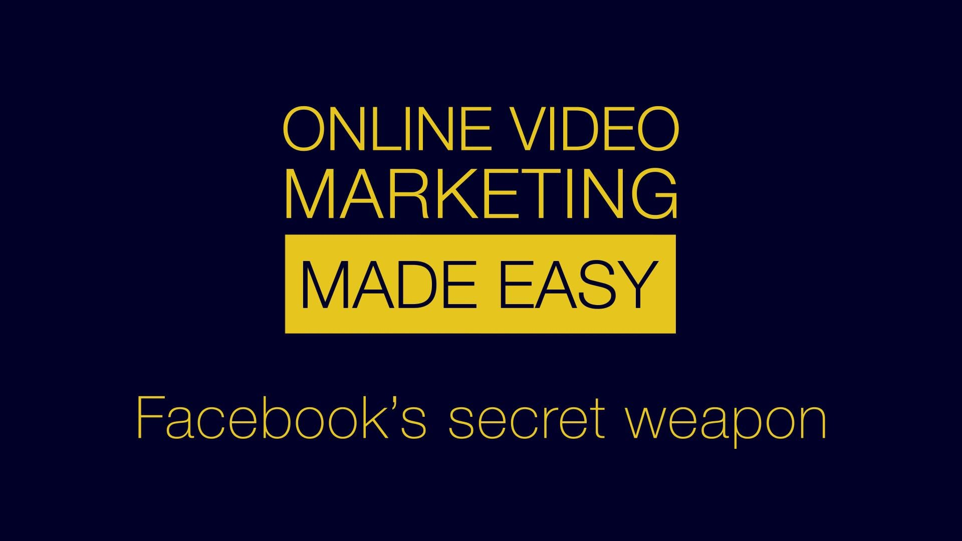 60 second Video Marketing Tips: Facebook's got a secret weapon!