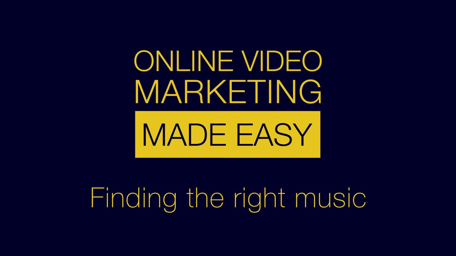 Video Marketing Tutorial : Using the right music