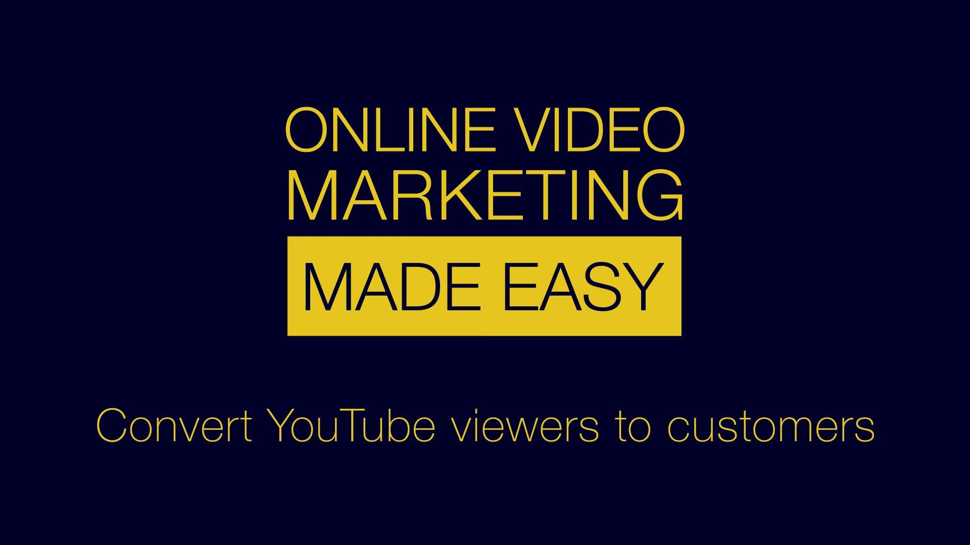 60 Second Online Video Marketing Advice: Using YouTube